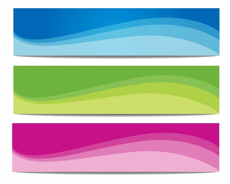 colorful summer vector banner