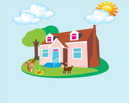 house backround Stock Vector - 17422108