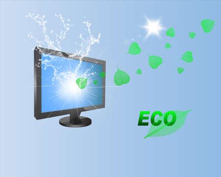 design design elemnt: Modern Technology ,Computer and Nature