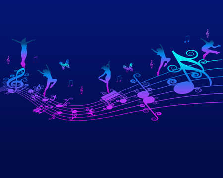 Melody, Music and Note Backround Stock Vector - 17973300