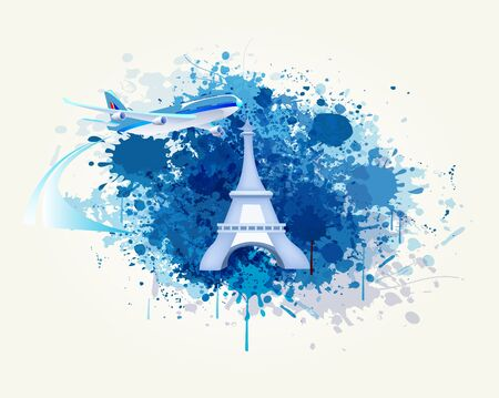 Decorative Travel and Splash Vector Backround Stock Vector - 18387784