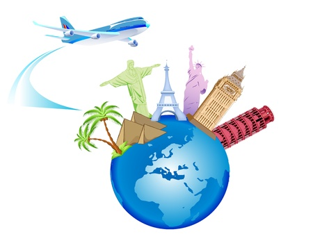 Travel and Globe Backround Stock Vector - 18733095