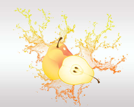 healty eating: Fresh Fruit in Splash Vector