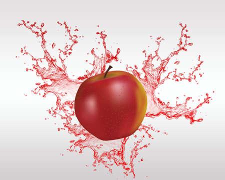 healty food: fresh fruit and fruit juice backround