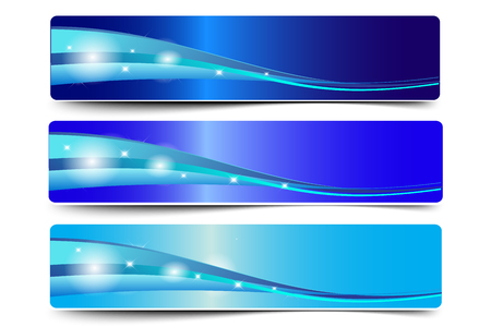 Blue Abstract Vector Banner