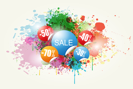 spalsh: Colorful Abstract Sale Vector and Background  Illustration