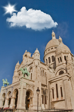 Monte Marte Cathedral in Paris, France Editorial