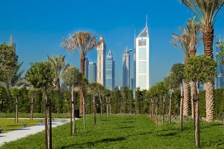 Dubai Skyline in United Arab Emirates