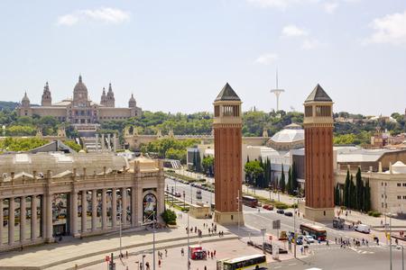 Panaromic scene in Barcelona, Spain Editorial