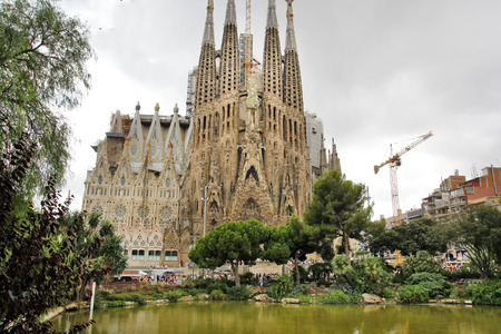 sagrada familia: Sagrada Familia in Barcelona, Spain