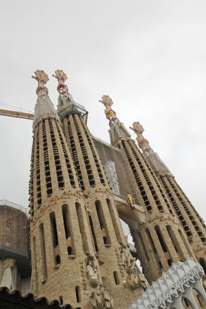 Sagrada Famlia in Barcelona, Spain Editorial