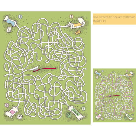 Toothpaste Maze Game with answer