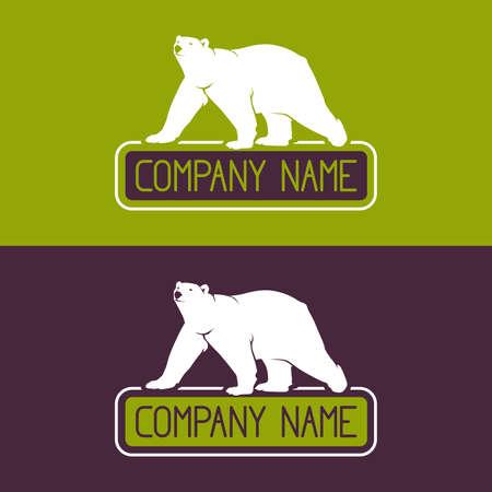 Polar bear vector icon
