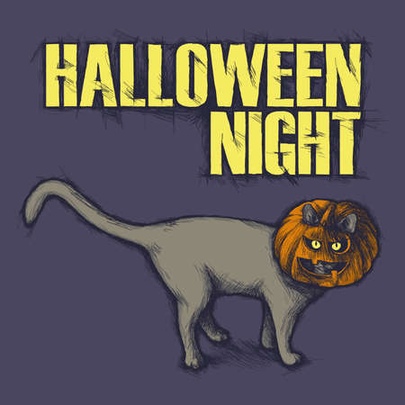 grisly: Halloween cat