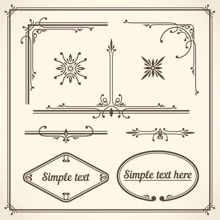 elegant border: Design Elements Corners Vector