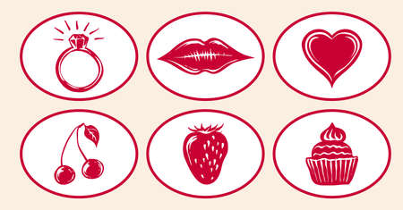 romantic: Romantic Icon Set