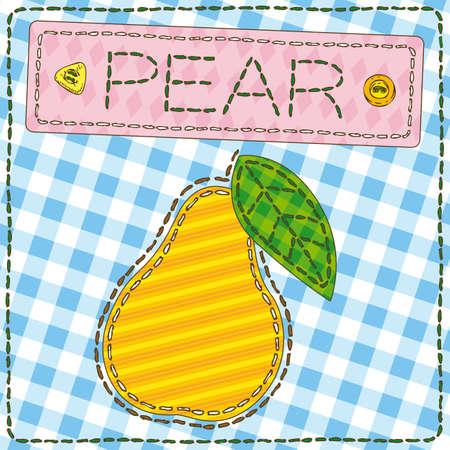 Funny patchwork with sweet pear.