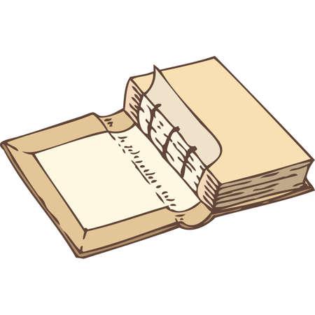 Associazione di un libro. Isolato su sfondo bianco