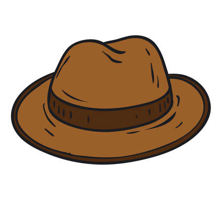 fedora: Brown Fedora Hat Isolated on a White Background