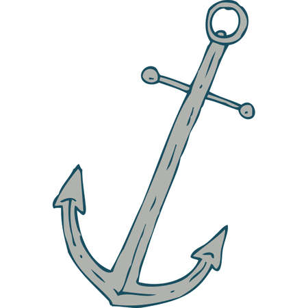 navy pier: Steel Ship Anchor. Isolated On A White Background Illustration