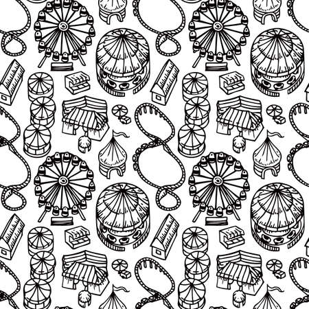 market place: Fair Seamless Pattern