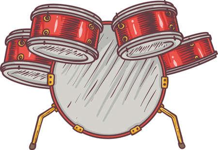 steel drum: Monkey and Drums