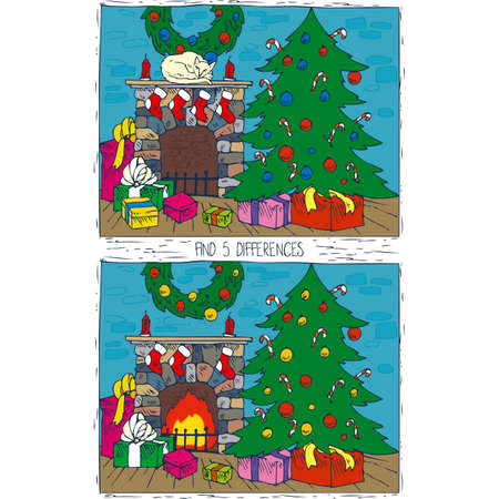 Christmas activity game for kids.