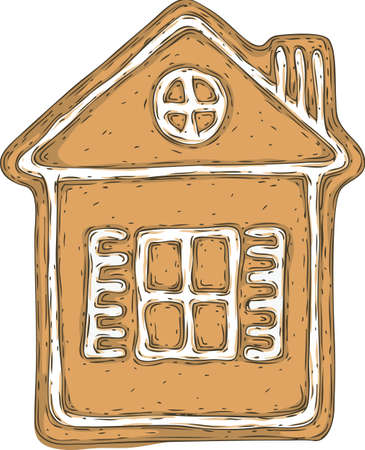 Gingerbread House Isolated on a White