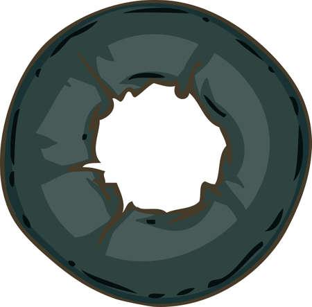 Ripe Black Olive Slice. Hand Drawn Illustration. Isolated on a White Illustration