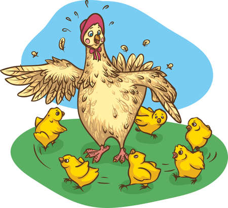 Mother Hen and Chickens
