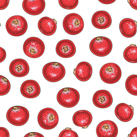 Seamless Pattern with Cranberry