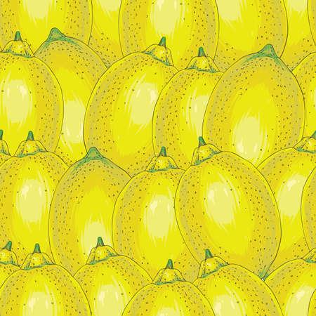 Seamless Pattern with Whole Lemons Stock Photo