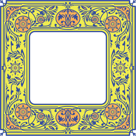 Floral Square Frame.White Space in the Centre