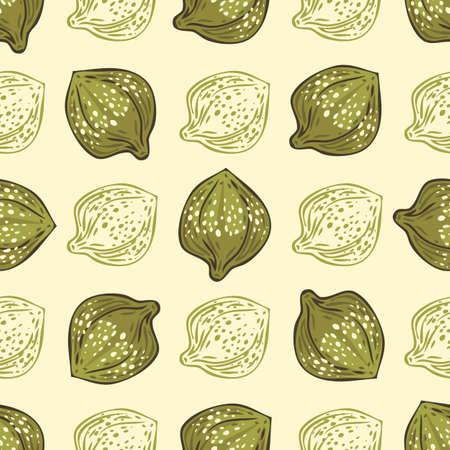 Seamless Pattern with Salted and Pickled Caper Bud on Light Background Ilustração