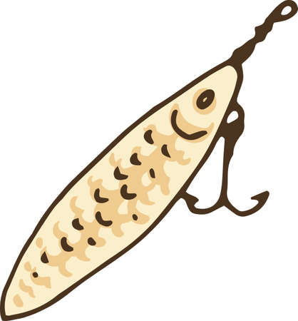 Fishing Lure. Fish Shape Hook Isolated on White