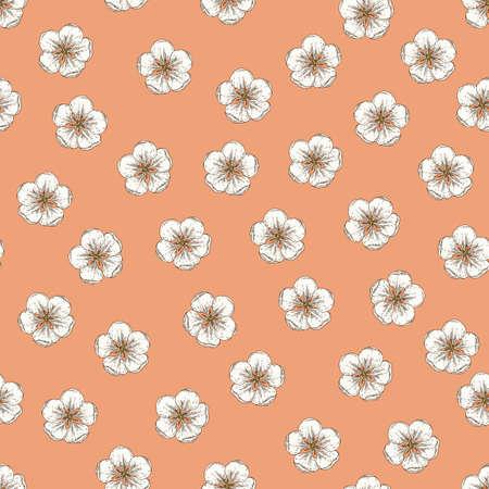 Apple Flowers Seamless Pattern