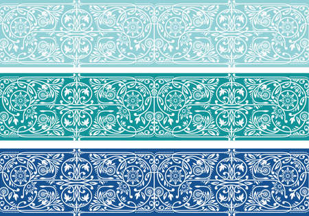 Floral Seamless Borders Collection