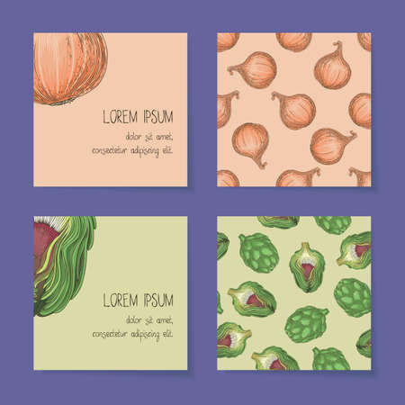 Vegetable Business Cards Template Collection