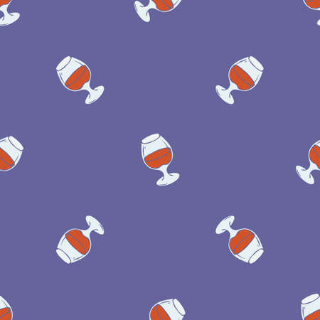 Glasses with Brandy Seamless Pattern