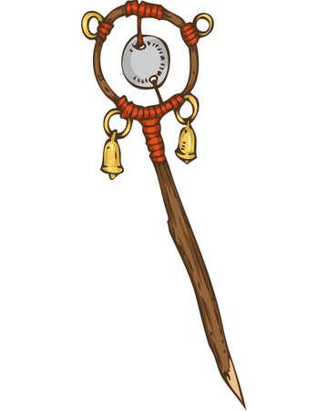 Magic Amulet or Wand 版權商用圖片 - 135392698