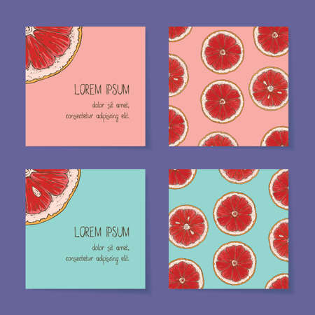 Grapefruit Business Cards Template Collection