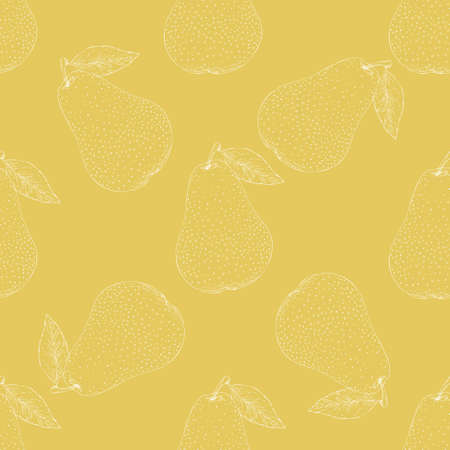 Seamless Pattern. Ripe Yellow Pears 版權商用圖片 - 135392892