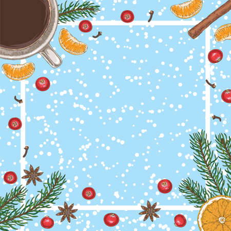 Christmas Morning Coffee Card or Menu Template