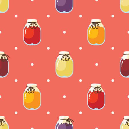 Fruit Jam Seamless Pattern 版權商用圖片 - 135401156