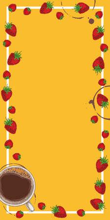Orange Menu Template 版權商用圖片 - 141792337
