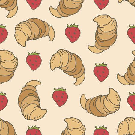 Croissants and Strawberries 版權商用圖片 - 142512486