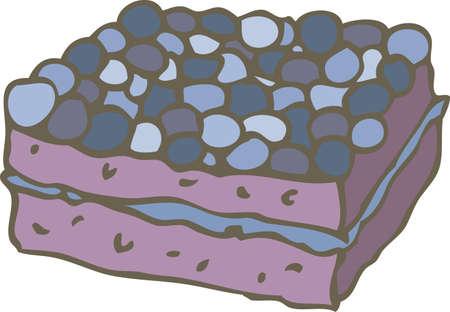 A Piece of Blueberry Cake Ilustração