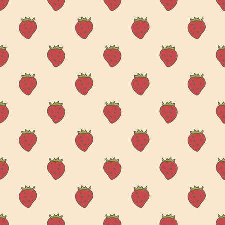 Seamless Pattern with Strawberries 版權商用圖片 - 142541707