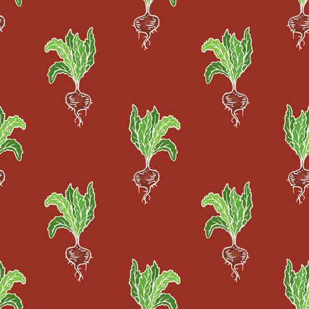 Ripe Beetroot Seamless Pattern