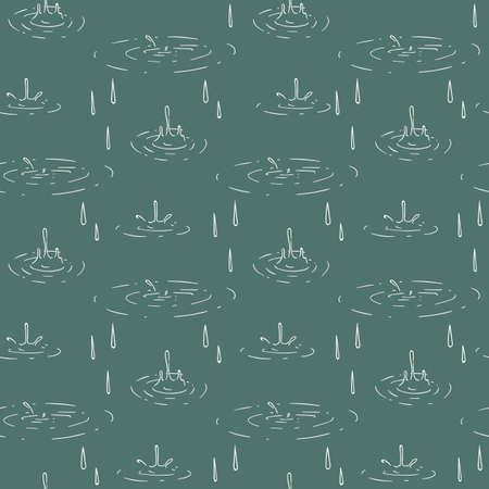 Rain Puddle Seamless Pattern